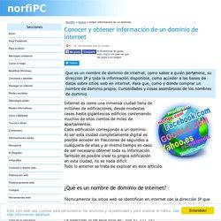 Saber y conocer toda la informacion de un dominio o direccion IP