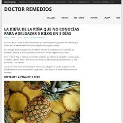 La dieta de la piña que no conocías para adelgazar 5 kilos en 3 días – Doctor Remedios