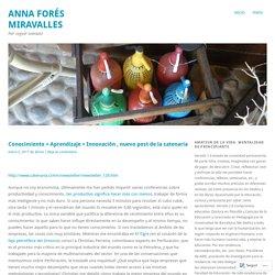 Conocimiento + Aprendizaje = Innovación , nuevo post de la catenaria