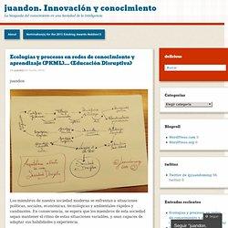 Ecologías y procesos en redes de conocimiento y aprendizaje (PKML)… (Educación Disruptiva)