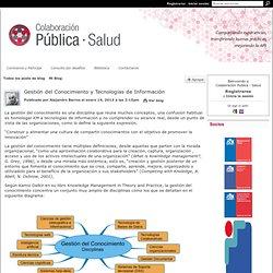 Gestión del Conocimiento y Tecnologías de Información - Colaboración Pública - Salud