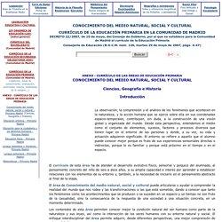 Conocimiento del Medio - Educación Primaria - Comunidad de Madrid