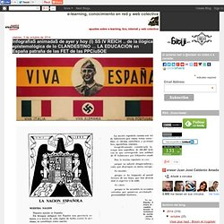 InfografiaS animadaS de ayer y hoy (I) SS IV REICH .. de la ilógica epistemológica de lo CLANDESTINO ... LA EDUCACIÓN en España patraña de las FET de las PPCiuSOE