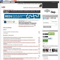 """Monográfico """"Evaluación Formativa mediante E-rúbricas"""" Vol.12 nº1 REDU"""