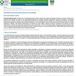 ZAPATA LÓPEZ: Sociedad del Conocimiento y Nuevas Tecnologías. Sala de lectura CTS+I