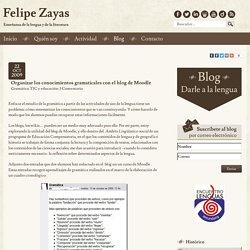 Organizar los conocimientos gramaticales con el blog de Moodle