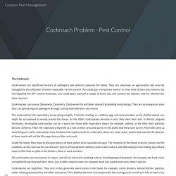 Cockroach Problem - Pest Control