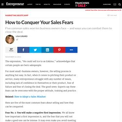 How to Conquer Your Sales Fears