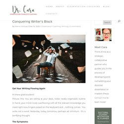 Conquering Writer's Block - Dissertation Complete Coaching