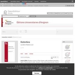 Conquérir l'humanité - Entretien - Éditions Universitaires d'Avignon