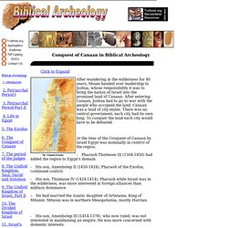 6 - Canaan Conquest in Biblical Archeology
