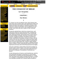 The Conquest of Bread: Chapter 1 Our Riches