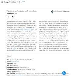 The Conquest of Jerusalem by Emperor Titus - Nicolas Poussin — Google Arts & Culture
