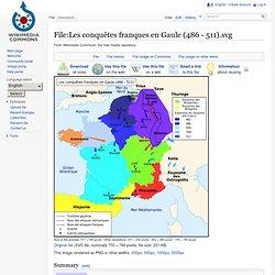 Les conquêtes franques en Gaule (486 - 511)