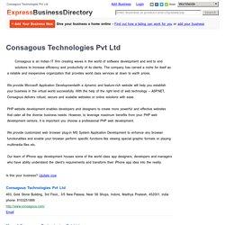 Consagous Technologies Pvt Ltd, India