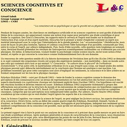 sciences cognitives et conscience (Sabah)