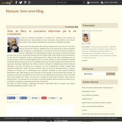 Texte de Karl Marx Friedrich Engels : L'idéologie Allemande