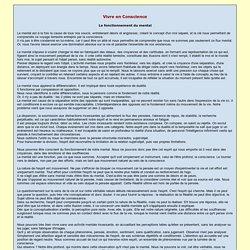 Le fonctionnement du mental - La Conscience Espace - Nicole Montineri