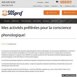 Mes activités préférées pour la conscience phonologique! - SOSprof