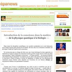 13/06/13 Conscience ds matière physiq quantiq à bio