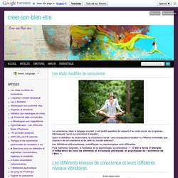 Les tats modifi s de conscience - Bien tre, sant , relaxation, massage, stress, shiatsu, Qi Qong; phytoth rapie, rem de de grand-m re