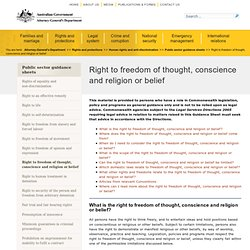 Right to freedom of thought, conscience and religion or belief