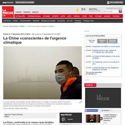 La Chine «consciente» de l'urgence climatique