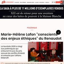 """Marie-Hélène Lafon """"consciente des enjeux éthiques"""" du Renaudot..."""