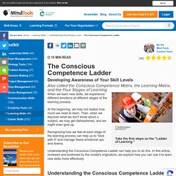 The Conscious Competence Ladder - Learning Skills from MindTools.com