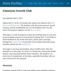 Conscious Growth Club - Steve Pavlina
