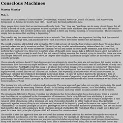 """Conscious Machines"", by Marvin Minsky"