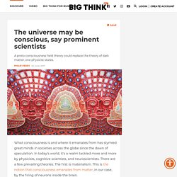 The universe may be conscious, say prominent scientists