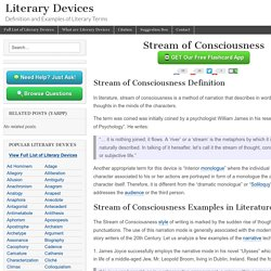 Stream of Consciousness - Examples and Definition