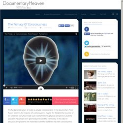 The Primacy of Consciousness | Documentary Heaven | Watch Free Documentaries Online