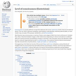 Level of consciousness (Esotericism)