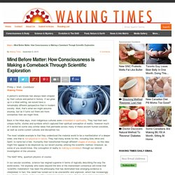 Mind Before Matter: How Consciousness is Making a Comeback Through Scientific Exploration : Waking Times
