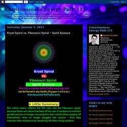 Consciousness Energy Path 111: Kryst Spiral vs. Fibonacci Spiral ~ Spirit Science