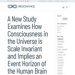 A New Study Examines How Consciousness in the Universe is Scale Invariant and Implies an Event Horizon of the Human Brain - Resonance Science Foundation