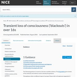 Transient loss of consciousness ('blackouts') in over 16s