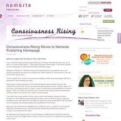 Consciousness Rising Moves to Namaste Publishing Homepage