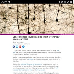 Consciousness could be a side effect of 'entropy', say researchers