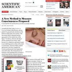 A New Method to Measure Consciousness Proposed