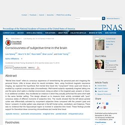 Consciousness of subjective time in the brain — PNAS