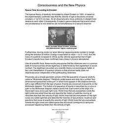 The Roots of Consciousness: Theory, Consciousness and the New Physics