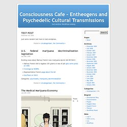 Consciousness Cafe – Entheogens and Psychedelic Cultural Transmissions