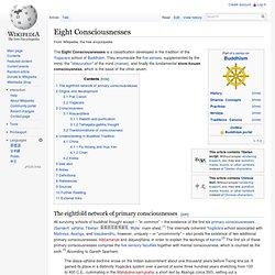 Eight Consciousnesses