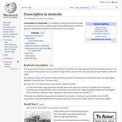 Conscription in Australia