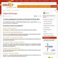 videos énergie consctruction rénovation thermique isolation menuiseries étanchéité - ASDER