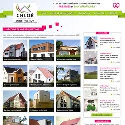 Réalisations de Maisons Voegelé. Consctructions de maison passive bioclimatique label BBC basse consommation RT 2020, constructeur ossature bois