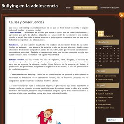 Bullying en la adolescencia